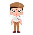 indian lady traffic police constable government vector image vector image
