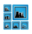 Industrial objects vector image vector image