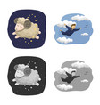isolated object of dreams and night symbol vector image