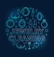 jewelry cleaning blue circular outline vector image