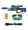 Laser tag game set in flat style vector image