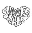 lettering in heart - summer sale marketing header vector image vector image