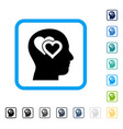 love in mind framed icon vector image vector image