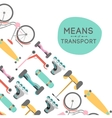 Means of transport background vector image vector image