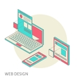 mobile and desktop website design development vector image vector image