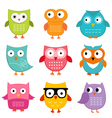 Owls set vector | Price: 1 Credit (USD $1)