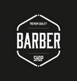 premuim barber shop vintage stamp logo vector image