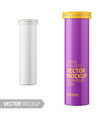 round glossy aluminum tube with sample design vector image vector image