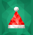santa claus hat in polygonal style vector image