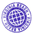 scratched textured virginia beach stamp seal vector image vector image