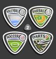 set of sport logos vector image vector image