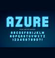 shining led light alphabet extra glowing font vector image