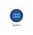 sign zodiac and horoscope aquarius vector image vector image