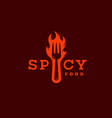 spicy food logo vector image