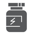 supplement glyph icon protein and container