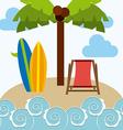surfing hawaii vector image