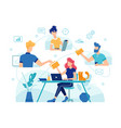 teamwork online home office team work management vector image