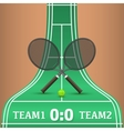 Tennis competitions vector image