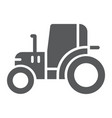 tractor glyph icon farm and agriculture vehicle vector image vector image