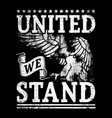 united we stand vector image vector image