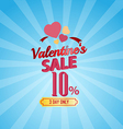 valentines day sale 10 percent typographic vector image vector image