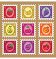 Vintage Fruit Stamps vector image vector image