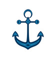 water anchor with geometric pattern logo vector image vector image