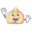 waving chickpeas character cartoon style vector image vector image