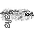 what is evil eye text word cloud concept vector image vector image