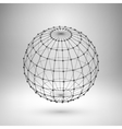 Wireframe mesh polygonal sphere vector image vector image