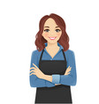 woman in apron vector image vector image