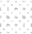 worker icons pattern seamless white background vector image vector image