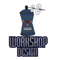 workshop design professional logo vector image