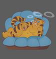 cat smoke vector image