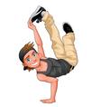 Funny breakdancer vector image