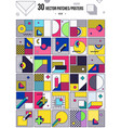 big collection with trendy backgrounds vector image