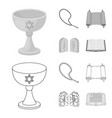 a cup of wine islamic beads ten commandments vector image