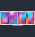 abstract of modern fluid colorful brochure set vector image