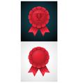 award badge with ribbon vector image vector image