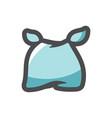 baby bib newborn clothes cartoon vector image