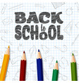 back to school doodles elements with colorful penc vector image vector image