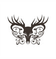 bone deer decoration vector image vector image