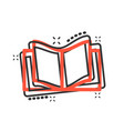 book education icon in comic style literature vector image