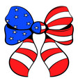 bow in the usa flag colors icon cartoon vector image