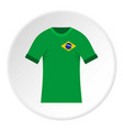 brazilian yellow and green soccer shirt icon vector image vector image