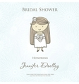 Bridal shower or wedding invitation with cute vector image vector image