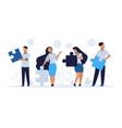 business teamwork concept cartoon people vector image