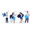 business teamwork concept cartoon people with vector image vector image