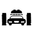 car wash automatic icon black color flat style vector image