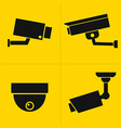 CCTV icons set vector image vector image